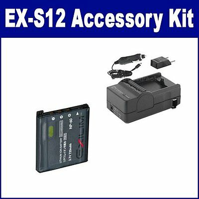 Casio Exilim EX-S12 Accessory Kit of: SDCANP60 SDM-190 Charger