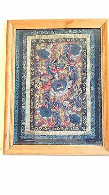 Beautiful Antique Chinese Silk Embroidery - Qing Dynasty