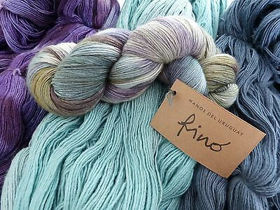 Manos del Uruguay Silk Blend Fino 100g 70% wool 30% silk 4ply hand dyed