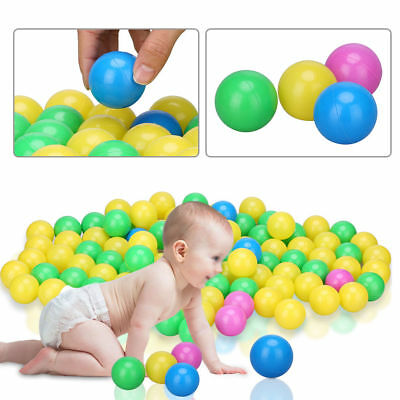 100 x Ocean Ball Plastic Colorful Balls Kid Secure Baby Pit Swim Pool Toy MF