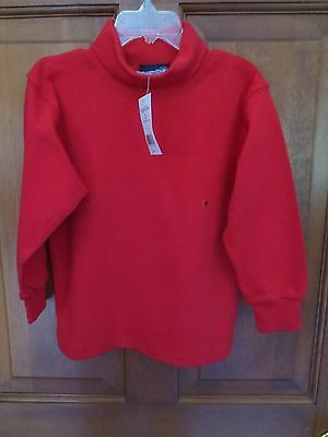 NWT Boys or Girls size 4 RUGGED BEAR Red Turtleneck Shirt Top 100% Cotton NEW
