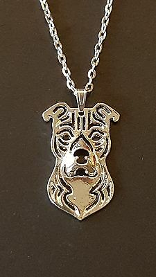 """American Staffordshire Terrier, Pit Bull, Bulldog Necklace 18""""  Chain"""