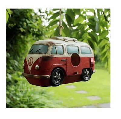 Novelty Hanging Outdoor Garden Classic RusticVW Campervan Birdhouse Nesting Box
