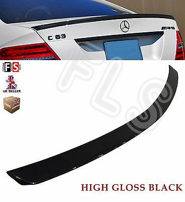 Mercedes C Class W204 Saloon Amg Style Rear Trunk Boot Spoiler 08-14 Gloss Black