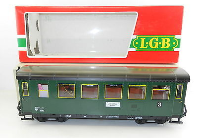 "Lehmann  ""L.G.B"" #3062 OBB Zee am See Kimmel Lighted Passenger COACH #3 -G Scale"