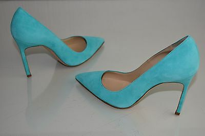 dc0e2956722 NEW MANOLO BLAHNIK BB 90 Paisley Green Suede Pumps Heels Shoes 39 ...