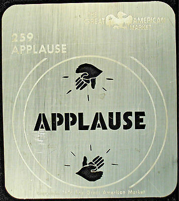 "Gobo template pattern - GAM 259 ""Applause"""