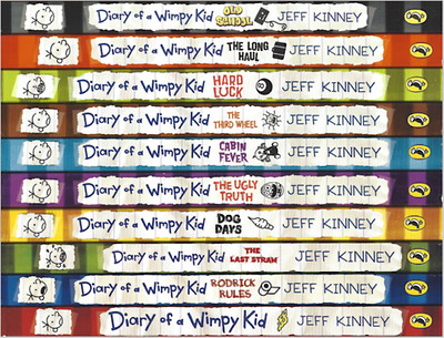 Diary of a Wimpy Kid Box Set - 10 Book Paperback Collection by Jeff Kinney