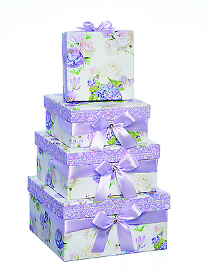Square Lilac Bouquet Luxury Gift Box - Small/Medium/Large/Extra Large