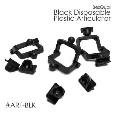 Dental Lab Disposable Plastic Articulator (100 of Sets) Black