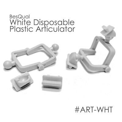 Dental Lab Disposable Plastic Articulator (100 Sets)White META-0004