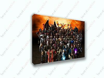 Mortal Kombat Shaolin Monks Characters Game Canvas Print Art Home Decor Wall