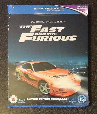 THE FAST & THE FURIOUS Blu-Ray SteelBook Zavvi UK Exclusive Ltd Ed New OOP Rare!