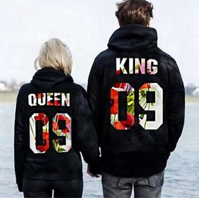 Couple Hoodie-Boy King Girl Queen and New Design Couple Matching Hoodie 2017 US