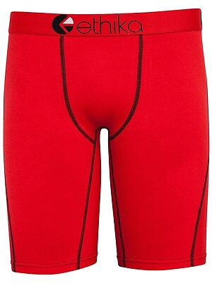 Ethika Red Contrast Kids Boxer Shorts