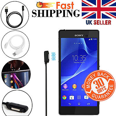 Magnetic Charger Micro USB Charging Cable For Sony Xperia Z3 Z2 Z1 1m Lead UK