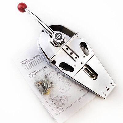 Stocking Universal Top Mount Marine Boat Single Lever Handle Engine Control Box