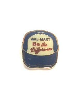 Rare Walmart Be The Difference Hat Wal Mart Lapel Pin Pinback Brand New