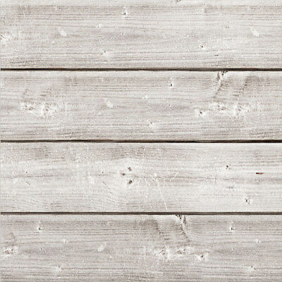 "Jillibean Soup Mix The Media Wooden Plank 12""X12"" Weathered White JB0989"