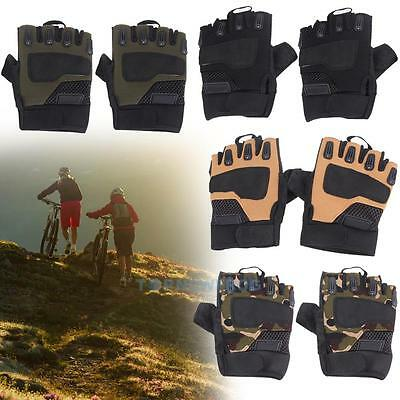 Outdoor Half Finger Glove Military Tactical Airsoft Hunting Cycling Shooting New