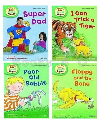 Level 3 Oxford Reading Tree Biff Chip Kipper First Stories Collection 4 Book Set