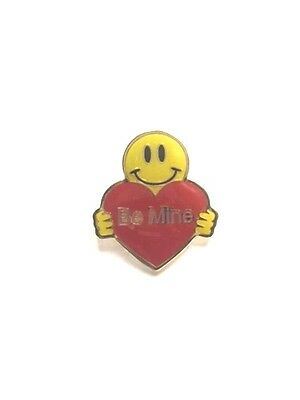 Rare Walmart Smiley Be Mine Wal Mart Lapel Pin Pinback Brand New