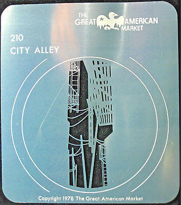 "Gobo template pattern - GAM 210 ""City Alley"""