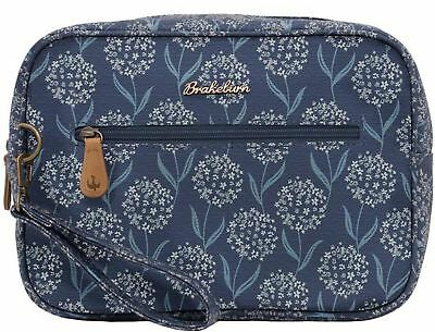 Brakeburn Spring Flower Large Wash Bag Blue Floral Cosmetic Purse