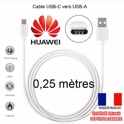 0.25M Cable Usb-C (Type C) 3.1 Sync Chargeur Vers Usb Pour Huawei Honor 8