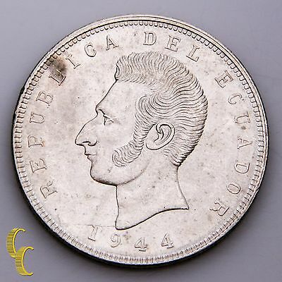 1944 Ecuador 5 Sucres (BU) Brilliant Uncirculated Condition KM# 79