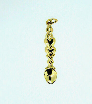 9ct Gold Welsh Lovespoon LP6