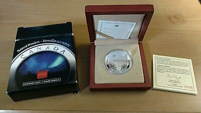 2004 Canada Natural Wonders $20 Northern Lights (Proof) Silver Coin