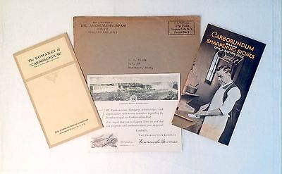 1929 Carborundum Co. Advertising Brochures and Thank You Note from Radio Show