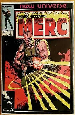 Mark Hazzard: MERC #1 (1986 MARVEL Comics) ~ FN Comic Book