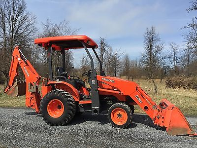 2009 Kubota B26 4X4 Compact Diesel Tractor Loader Backhoe Tlb Cheap Shipping!!