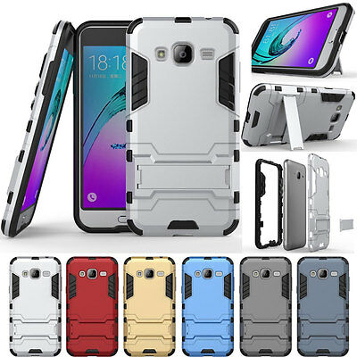 Hervy Armor Shockproof Rugged Stand Case Cover For Samsung Galaxy J7-2015 J700