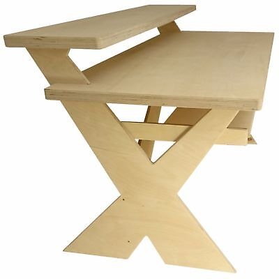 Birch Ply Producer, Composer Desk for full 88 key Electric piano keyboard (X1-D)