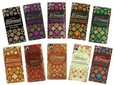 Divine Chocolate Lovers Mixed Flavours Case 10 x 100g Bars