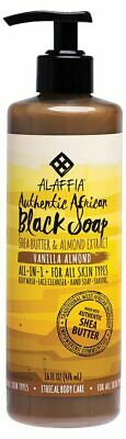 Vanilla Almond Black Soap 475ml - Alaffia