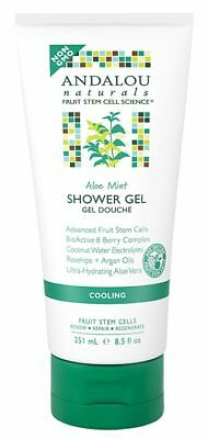 Aloe Mint Cooling Shower Gel 251ml - Andalou Naturals