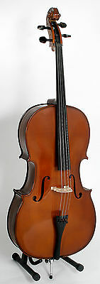 Stentor 1/2 Size Cello. Student Ii. Solid Spruce Hand Carved Top W/padded Bag