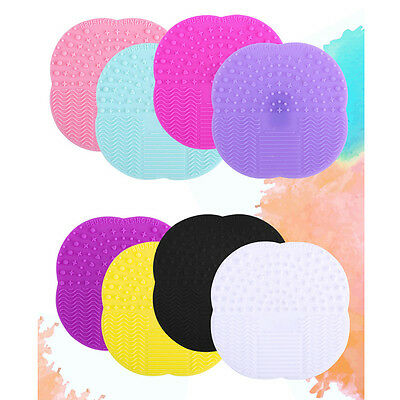 Silicone Makeup Brush Cleaner Washing Scrubber Board Cleaning Mat Pad