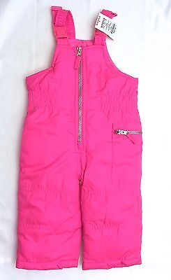 New CARTER'S Girls 12 mos Snow Bib Overalls! New! Bright Pink Outerwear NWT