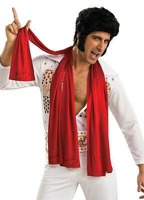 Licensed Elvis Presley Adult Mens Elvis 50's Costume Red Scarves Scarf 3Pcs