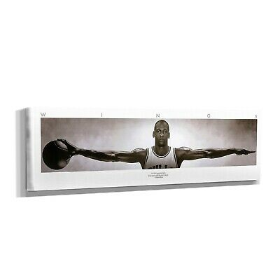 Michael Jordan Wings Panoramic&Five Piece Poster Canvas Print Home Decor Wall #1