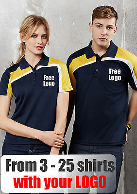 From 3 - 25 shirts Men Velocity Polo with Your Embroidered LOGO (Biz P111MS)