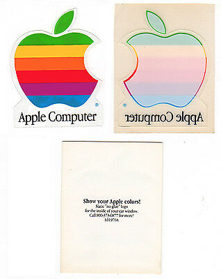 NEW Apple Computer Rainbow Logo Window Stickers L01970A Rare Vintage Collectible