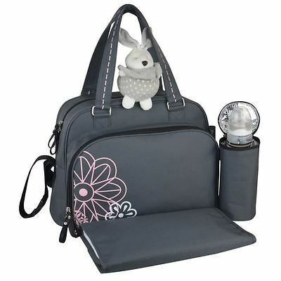 BABY ON BOARD Sac a Langer Simply Havana Gris/Rose
