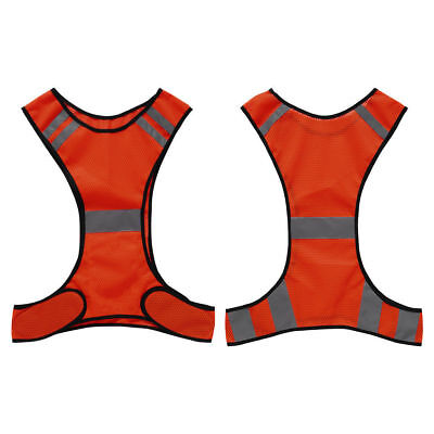 Safety High Visibility Reflective Running Vest Jogging Bike Cycling Walking Hot