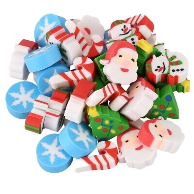 35 x Eraser Christmas Santa Claus Christmas Tree Snowflake Christmas Advent B9P2